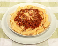 bolognese pasta Arkivfoto