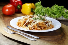 Bolognese pasta stock image