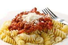 bolognese pastasås arkivbild