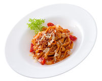 Bolognese Plate Stock Image