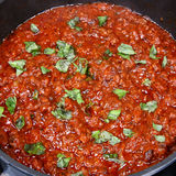 Bolognese sauce with basil Royalty Free Stock Photos