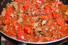Bolognese sauce Stock Photography