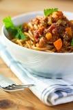 bolognese spagetti Royaltyfri Foto