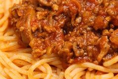 bolognese spagetti Royaltyfria Bilder