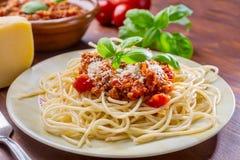 bolognese spagetti Royaltyfri Bild