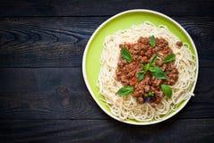bolognese spagetti Arkivfoton