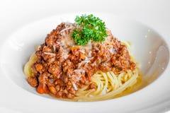 bolognese spagetti Royaltyfri Fotografi