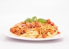 bolognese spagetti Arkivbilder
