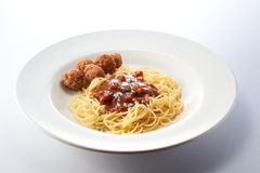Bolognese Spagetti with Meat Ball Royalty Free Stock Photos