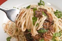 bolognese spagheti Royaltyfria Foton