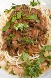 bolognese spagheti Arkivfoton