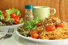 Bolognese Spaghetti. Spaghetti with meat and tomato sauce Stock Photo