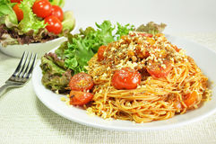 Bolognese Spaghetti. Spaghetti with meat and tomato sauce Royalty Free Stock Image