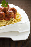 Bolognese spaghetti with meatball Royalty Free Stock Photography