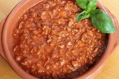Bolognese vleessaus Stock Fotografie