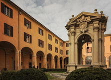 Bolona courtyard well Royalty Free Stock Image