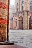 Bolonha Itália do detalhe da arquitetura da coluna do castelo Imagem de Stock Royalty Free