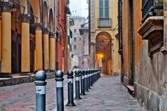 Bolonia de la opinión de la calle Imagenes de archivo