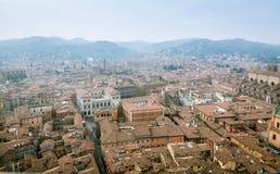 Bolonia de la torre de Asinelli Imagenes de archivo
