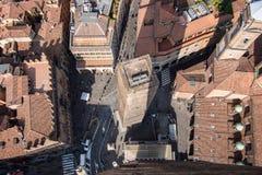 Bolonia desde arriba Imagen de archivo