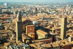Bolonia desde arriba Foto de archivo libre de regalías