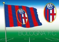 BOLONIA, ITALIA, AÑO 2017 - campeonato del fútbol de Serie A, bandera 2017 del equipo de Bolonia