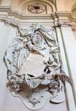 Bolonia - monumento fúnebre barroco de general Marsili (1733) por Angelo Pio en la iglesia de St Dominic de la iglesia Fotografía de archivo