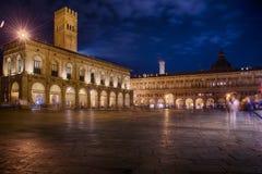 Bolonia por noche Fotografía de archivo libre de regalías