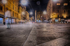 Bolonia por noche Imagen de archivo