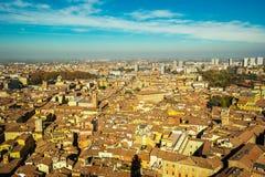 Bolonia vista desde arriba Foto de archivo