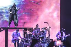 Bolonia viva 2018 del concierto de Smashing Pumpkins fotografía de archivo libre de regalías