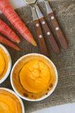 Bolos caseiros do queijo da cenoura Imagem de Stock