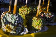 Bolos coloridos doce foto de stock