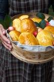 Bolos com doce da maçã Foto de Stock