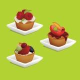 Bolos com frutas Imagem de Stock Royalty Free
