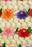 Bolos cozinhados da flor foto de stock royalty free