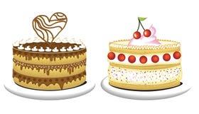 Bolos de aniversário ilustração royalty free