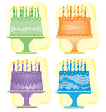 Bolos de aniversário Foto de Stock Royalty Free