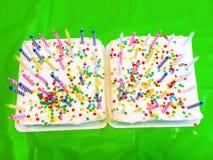 Bolos de aniversário com velas Imagens de Stock Royalty Free