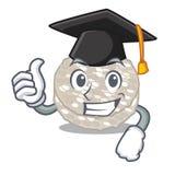 Bolos de arroz da graduação na forma dos desenhos animados ilustração stock