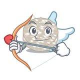 Bolos de arroz do cupido em um caráter do frasco ilustração royalty free
