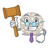 Bolos de arroz do juiz isolados na mascote ilustração stock