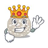 Bolos de arroz do rei isolados na mascote ilustração do vetor