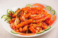 Bolos de arroz fritado picantes Foto de Stock Royalty Free