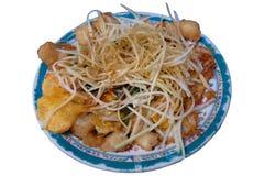Bolos de arroz fritado vietnamianos (bot Chien) Fotografia de Stock Royalty Free