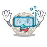 Bolos de arroz de mergulho na forma dos desenhos animados ilustração stock