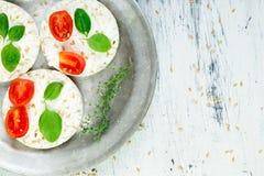 Bolos de arroz saudáveis Imagens de Stock Royalty Free