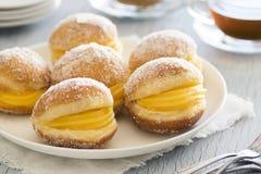 Bolos de Berlim, pasteles portugueses Fotos de archivo