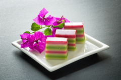 Bolos de camada coloridos, Malásia Fotografia de Stock Royalty Free