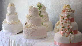 Bolos de casamento Fotos de Stock